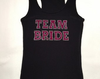 Team Bride Tank Top. Bridesmaid. Bachelorette Party. Maid of Honor. Matron of Honor. Wedding Bridal Party.