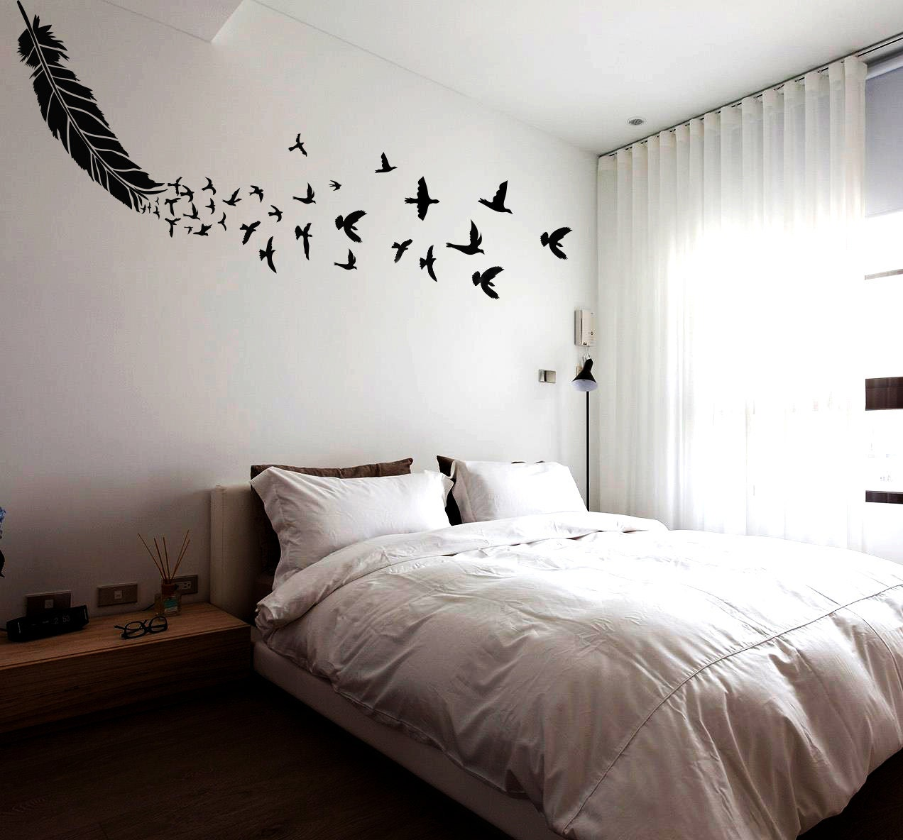 Feather wall stencil large reusable feather stencil with zoom amipublicfo Images