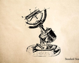 Astrolab Rubber Stamp - 2 x 2 inches