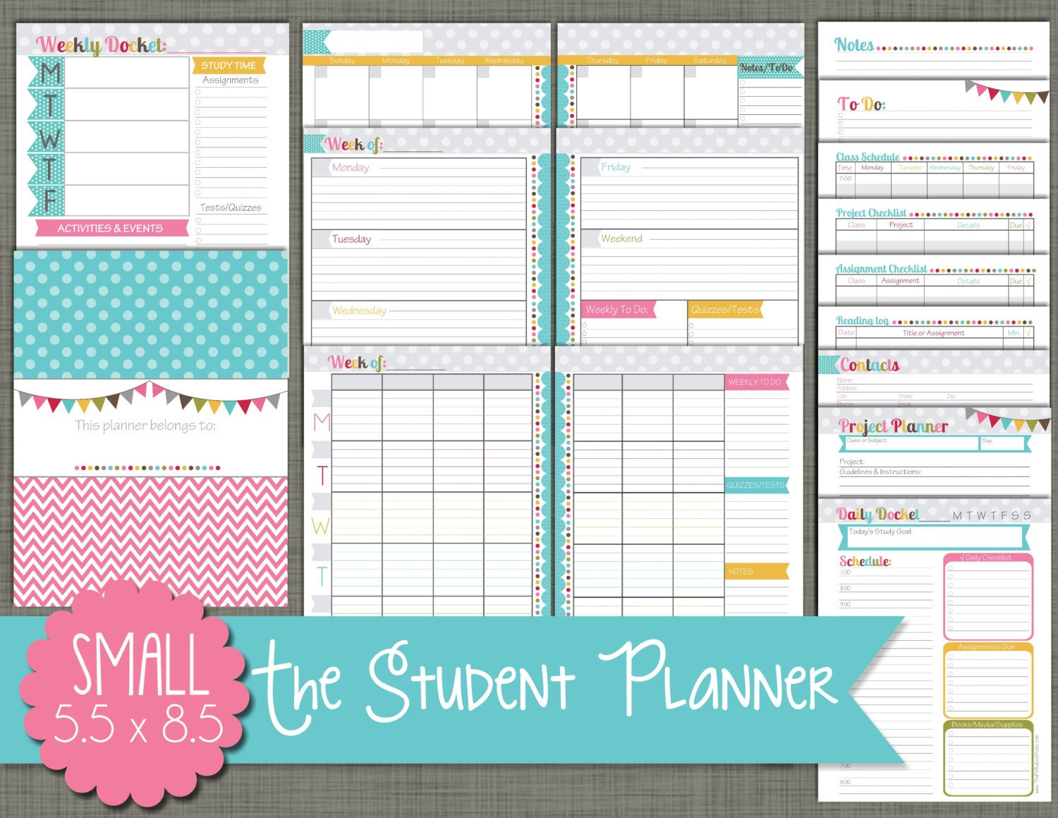 It's just a photo of Bewitching Printable Academic Planner