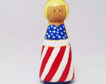 American Peg Princess, Peg people America, US peg person, American Peg doll, Peg doll, Peg people