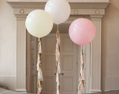 "36"" Giant Round Balloon with tassel garland tail / Wedding Decoration"