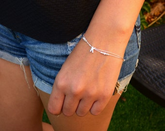 100% Sterling silver Personalized Bracelet, Personalize Bracelet ,Personalized Silver bracelet, Personalized Bracelet, Letter Bracelet.