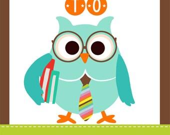 OWL theme classroom decor - Teacher Welcome Sign - magnet
