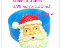 JYL071 Santa Clause Silicone Mold Christmas Silicone Molds Winter Mold Fondant Molds 25mm - Bakeware Candle Moulds Resin Mould