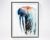 Walrus watercolor painting print, Walrus art, animal watercolor, animal illustration, Sea art, Walrus print, animal  art