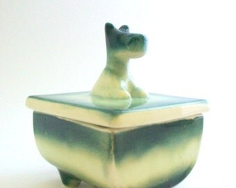 Scottie Dog Box, Porcelain Scottie Dog, Scottie Dog, Dog Treat Box, Dog Treat Container, Porcelain Box, Trinket Box, Jewelry Box, Vintage