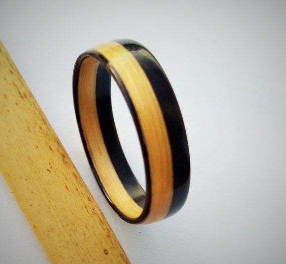 bamboo ring wood ring mens ring engagement ring bamboo and