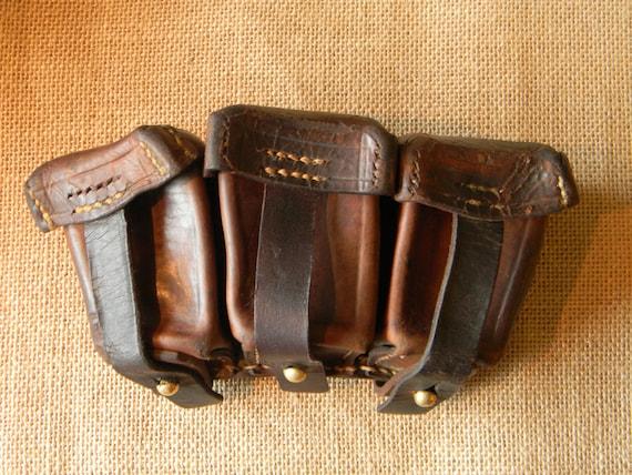 Vintage Leather Belt Vintage Leather Belt Pouch 3