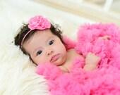 Hot Pink Newborn Headband, Hot Pink Headband, Pink Headband, Baby Headband, Holiday Headband, Flower Headband, Hot Pink Flower Headband