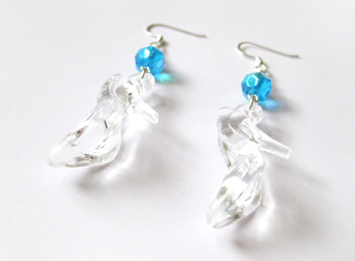 cinderella inspired princess slipper earrings by