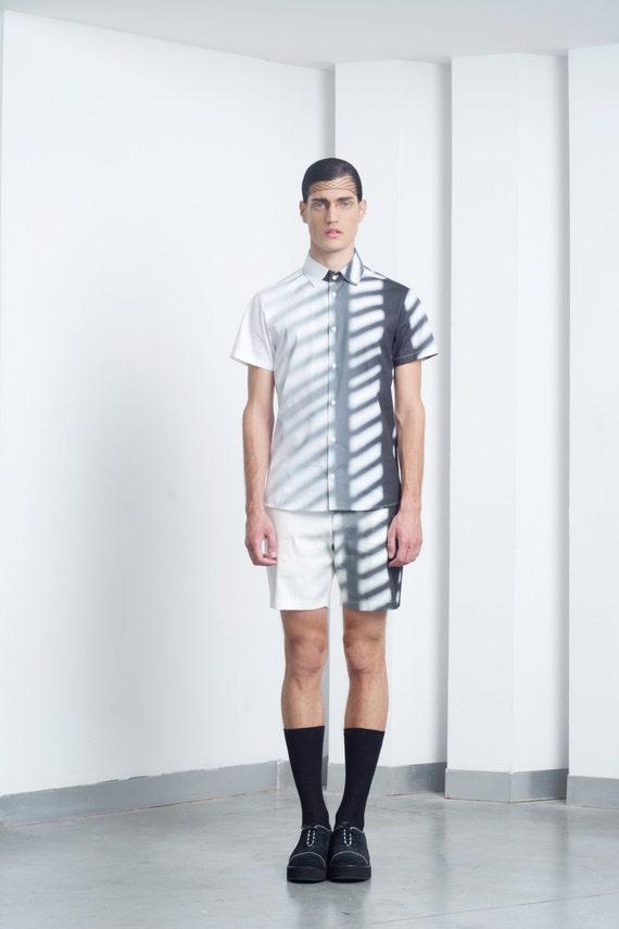 Mens shorts Mens linen shorts Mens white linen shorts Mens