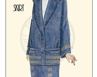 Knitting Pattern 1920s Ladies Suit – PDF Knitting Pattern - PDF Instant Download