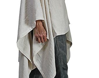 Hemp Linen Design Poncho  (JGN-025-02)