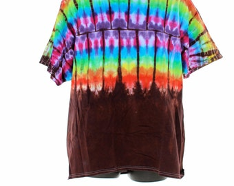 Rainbow Shirt, Tie Dye T-Shirt, Trippy Mens Top, Hippie T-Shirts, Festival Clothing