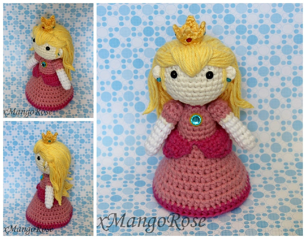 Princess Peach Amigurumi Doll Plush Crochet Pattern by ...