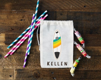 Surf's Up! Personalized Party Favor Bags {set of 10}