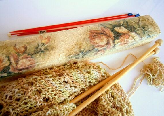 Knitting Needle Storage Box : Knitting needle case needles organizer