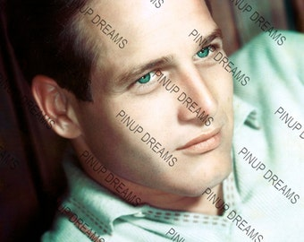 """Photo Wall Art Print of Paul Newman, Vintage Classic Movie Star size A4 (11.7"""" x 8.3"""")"""