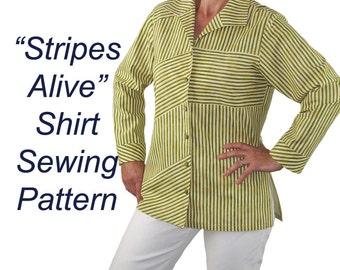 Stripes Alive Shirt Pattern, BSS118