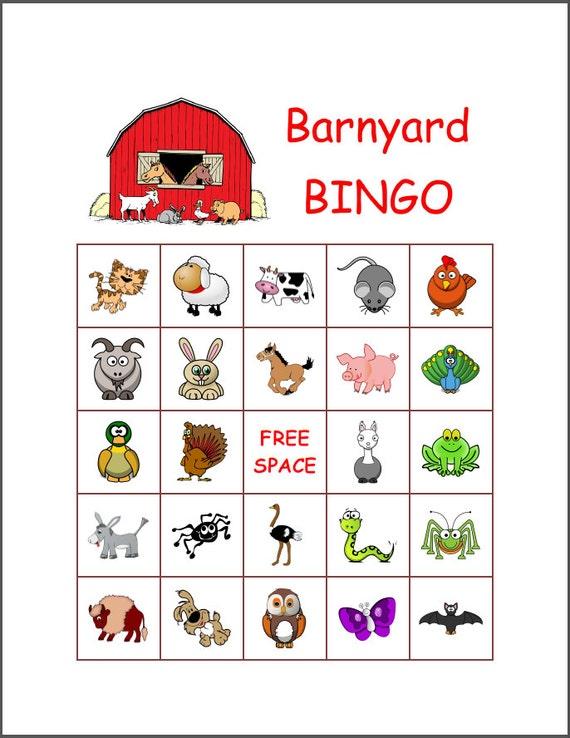 This is an image of Rare Animal Bingo Printable