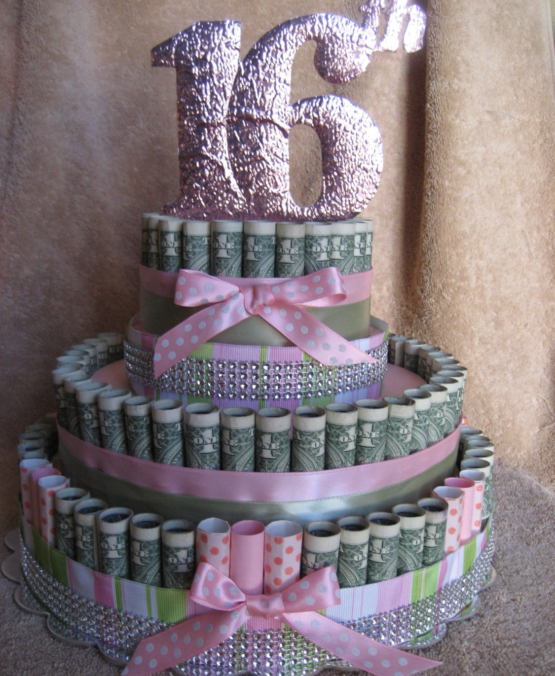 MONEY CAKE 16th Birthday Unique And Fun By CreativeCreationsMC