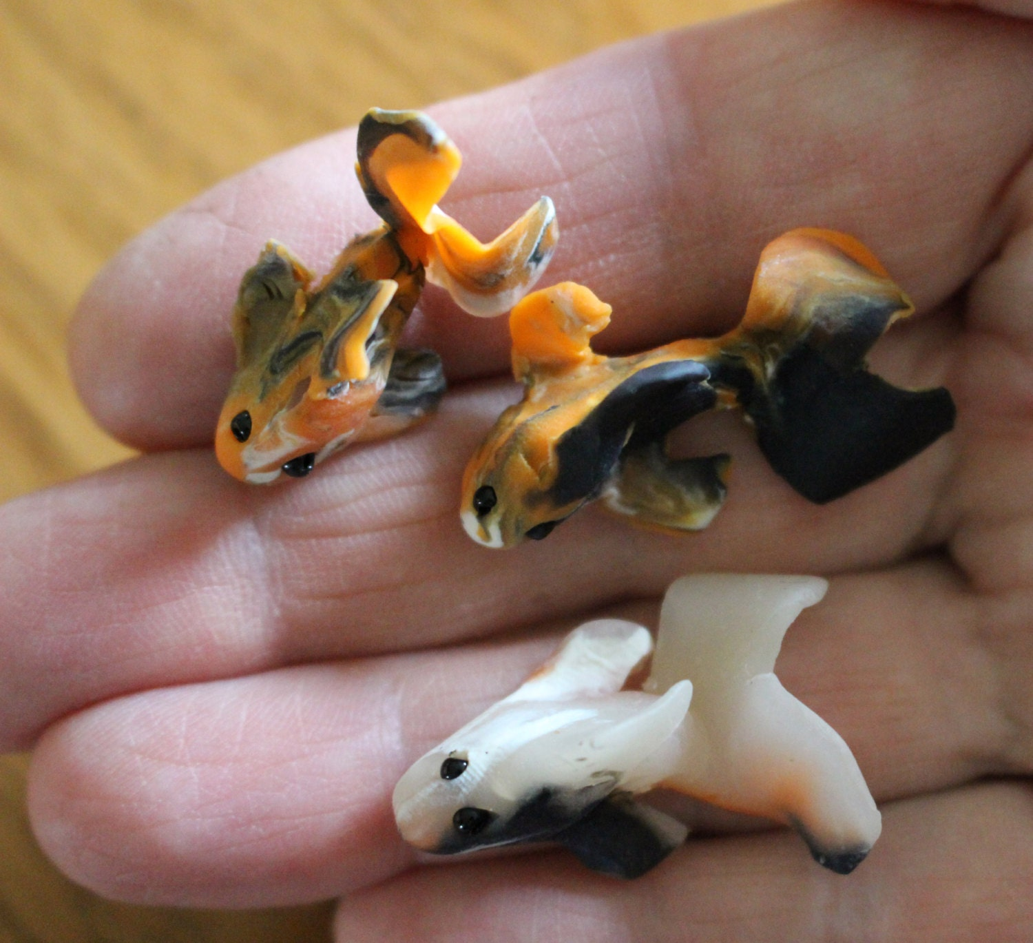 Ooak miniature koi fish for fairy garden by for Mini koi fish