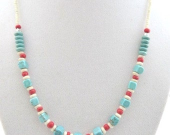 Southwestern Necklace Southwest Turquoise Necklace Native American Style Boho Aztec Tribal Gift