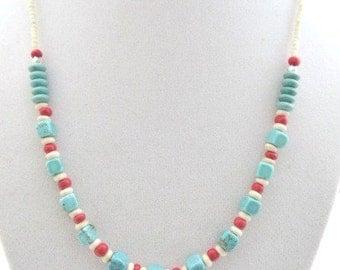 Southwestern Necklace Southwest Turquoise Necklace Native American Style Boho Aztec Tribal Gift