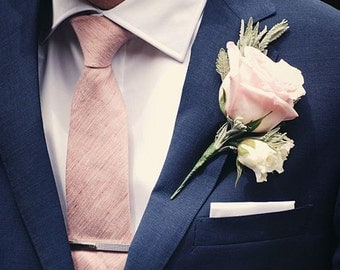 Custom Silk Dupioni Men's necktie - choice of over 70 colors - Standard or Skinny - Ivory, Black, Pink, Green, Blue, Yellow, Orange, Purple