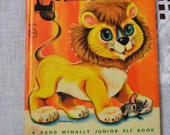 Vintage Childrens Book Lancelot 1963 Junior Elf Lion PanchosPorch