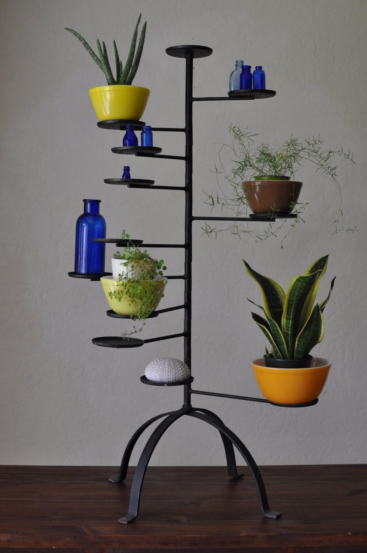 articul en fonte 12 bras pi destal plante stand antique style. Black Bedroom Furniture Sets. Home Design Ideas