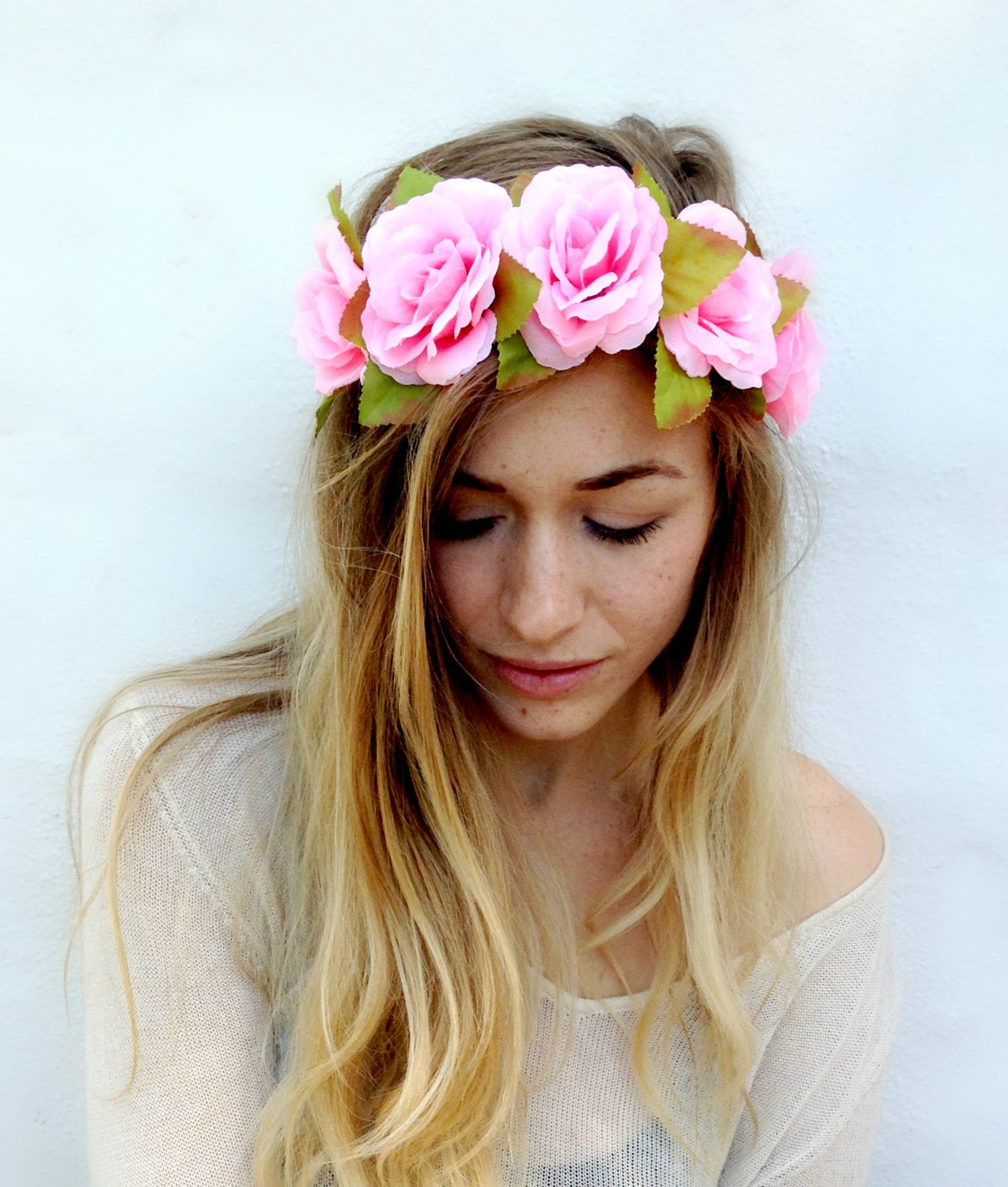 Flower Crown Headband Coachella Music by TheBloomingBeauty on Etsy