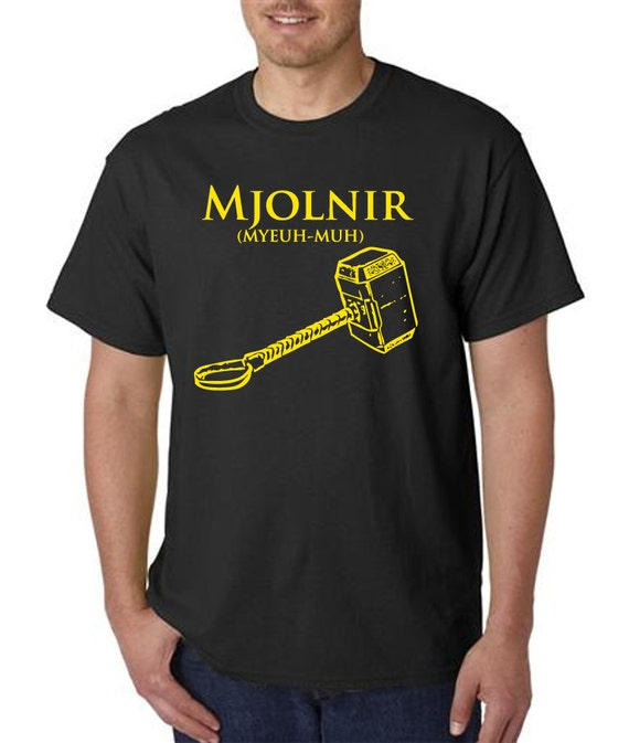 Mjolnir With Phonetic Pronunciation Yellow Vinyl By