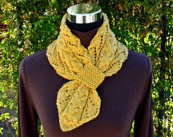 Knitting Pattern Only - Lace and Cables Scarf