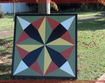 Barn quilt pattern that would look great hanging on your porch or even inside.