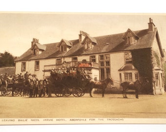 Vintage Postcard, Antique Postcard, Aberfoyle, Perthshire/Bailie,Nicol,Jarvie, Hotel, Scotland Postcard,The Trossachs