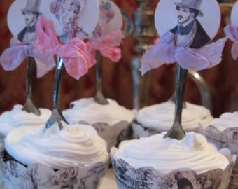Jane Austen Party Appetizer and Dessert Forks