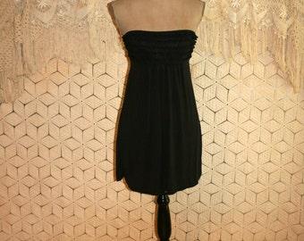 Strapless Black Dress Casual Mini Dress Petite XS Summer Dress Short Black Dress Victorias Secret Women Dresses Size 2 Dress Womens Clothing