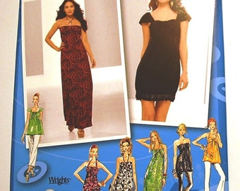 LAST CHANCE SALE - Simplicity 2622 - Juniors Knit Dress Pattern in Two Lengths - Tunic Pattern - Project Runway - Sizes 3/4, 5/6, 7/8, 9/10
