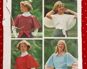 1970's Misses' Wrap Blouse, Cape, Reversible Top Pattern, Simplicity 5397, Medium, Simple to Sew, Boho, Flutter Sleeves