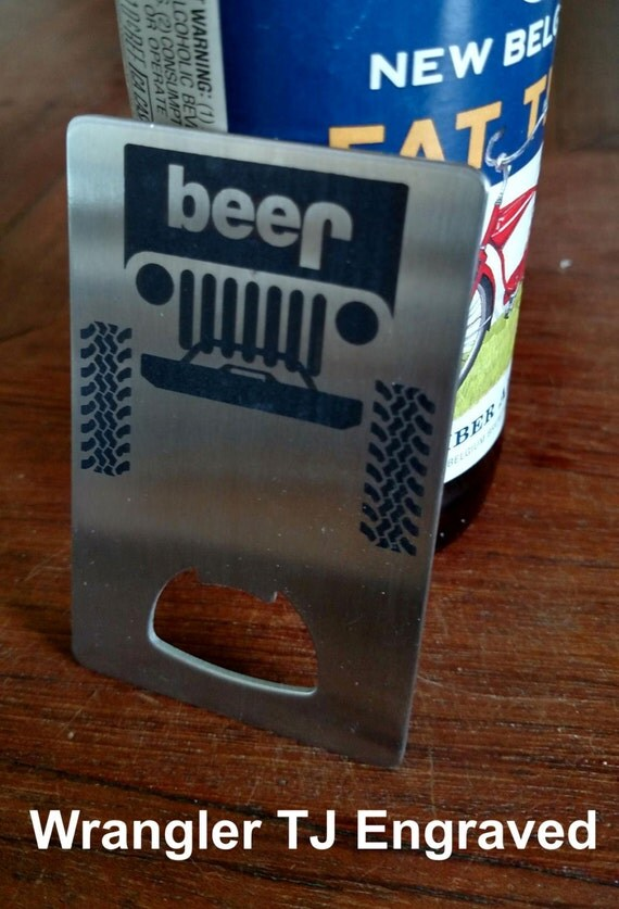 stainless steel jeep beer bottle opener. Black Bedroom Furniture Sets. Home Design Ideas