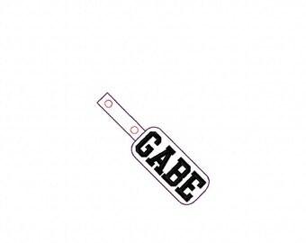 Gabe - Name - In The Hoop - Snap/Rivet Key Fob - DIGITAL EMBROIDERY DESIGN