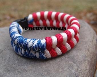 American Flag Paracord bracelet