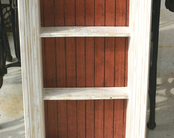 Shadow Box Frame Wall Shelf Cottage Chic Rustic Country Distressed Furniture Display Shelf