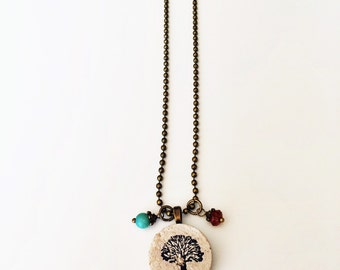 Tree Wine Cork Necklace
