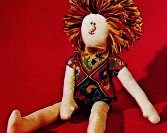 Hippie Friend Doll Vintage Sewing Pattern Instant Download
