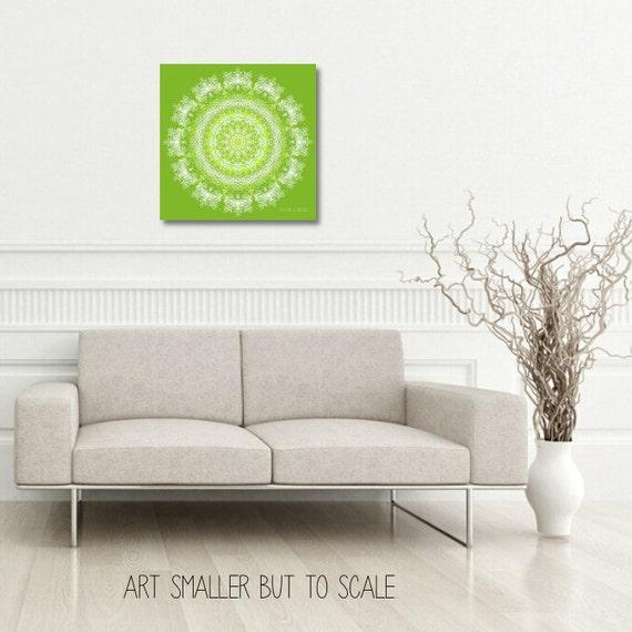 statement wall art lime green decor white by featherandindigo