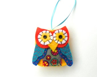 DIY Whimsical Square Felt Owl Ornament Kit