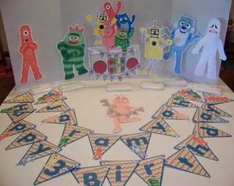 Yo Gabba Gabba double sided centerpiece Large middle centerpiece is a additional charge
